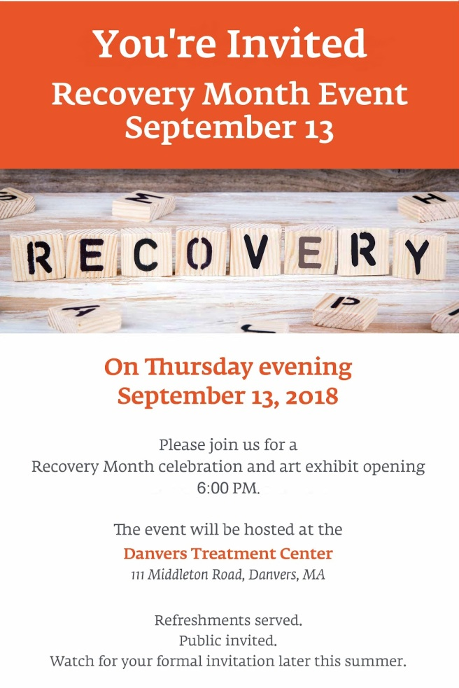 youre invited- recovery event